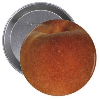 Melocotón enorme, botón redondo de 4 pulgadas pin redondo de 4 pulgadas