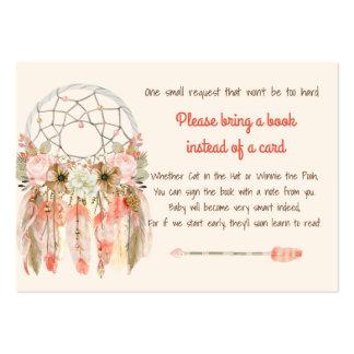 Melocotón ideal de la petición del libro de la tarjetas de visita grandes