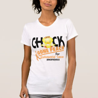 Melocotón ido polluelo 2 del cáncer endometrial camiseta