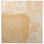Melocotón inspirado floral servilleta
