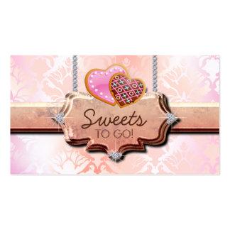 Melocotón lindo del damasco de la panadería de 311 tarjetas de visita