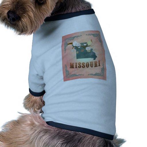Melocotón moderno del pastel del mapa del estado d ropa de perro