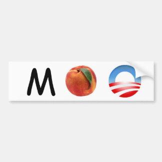 ¡Melocotón Obama de M - acuse a Obama! Etiqueta De Parachoque