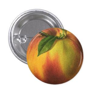 Melocotón pequeño, 1 botón redondo de la pulgada pin redondo de 1 pulgada