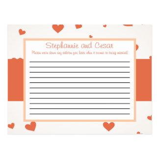 Melocotón programable del amor/de los corazones de tarjeta postal