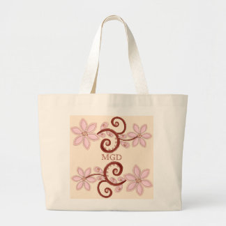 Melocotón rosado floral con la bolsa de asas del m