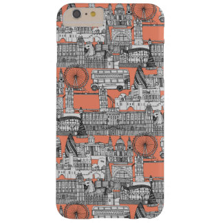 Melocotón toile de Londres Funda Para iPhone 6 Plus Barely There