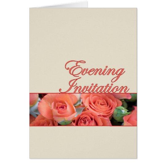 Melocotón y crema de la invitación del boda de la tarjeta de felicitación