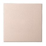 Melocotón y rayas diagonales blancas tejas