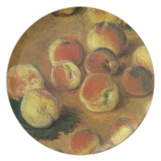 Melocotones de Claude Monet Plato Para Fiesta