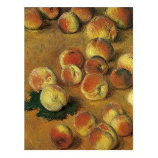 Melocotones de Claude Monet Postal