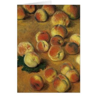 Melocotones de Claude Monet Tarjeta De Felicitación