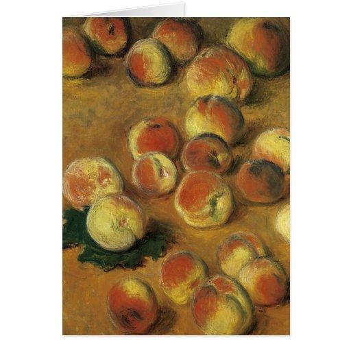 Melocotones de Claude Monet Tarjeta Pequeña