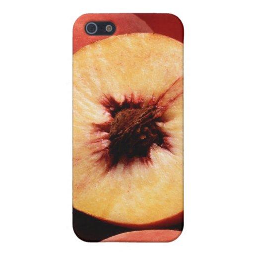 Melocotones del rojo del otoño iPhone 5 protectores