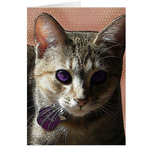 Melocotones y tarjeta de felicitación Púrpura-obse