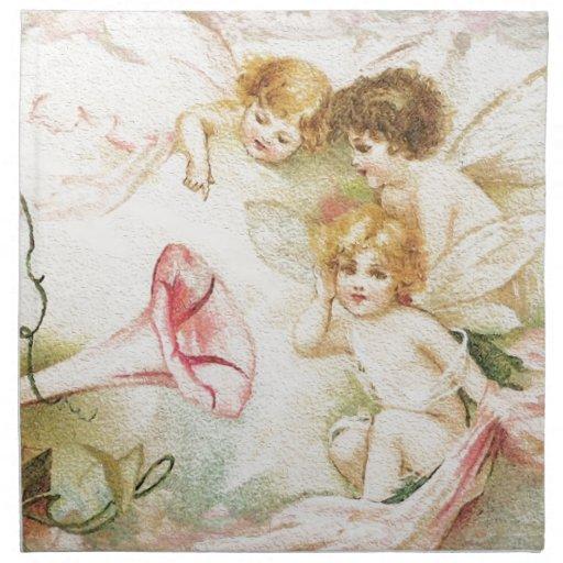 Melodía - ángeles, flores, música servilletas