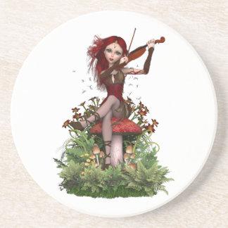 Melodía de hadas coralina del dulce del ~ posavasos diseño