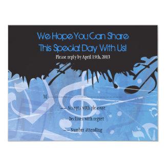 MELODÍA de la tarjeta de contestación de Mitzvah Comunicados Personales
