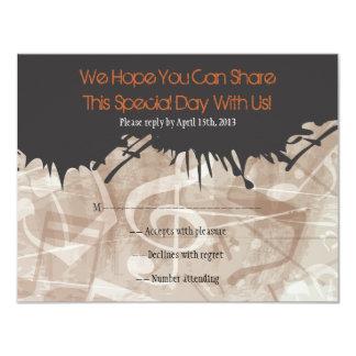 MELODÍA de la tarjeta de contestación de Mitzvah Invitaciones Personales