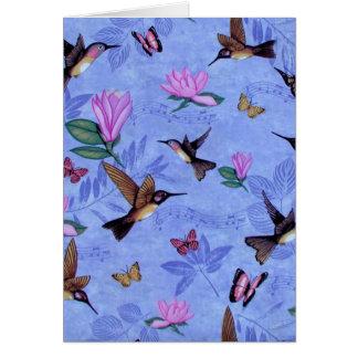Melodía del colibrí tarjeta de felicitación