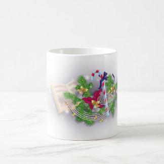 Melodía del navidad taza clásica