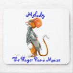 Melodía, el piano de jugador Mousepad Alfombrillas De Ratón