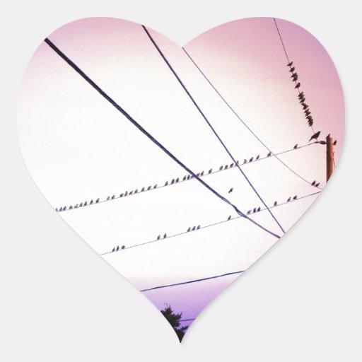 Melodía en el cielo pegatinas de corazon personalizadas