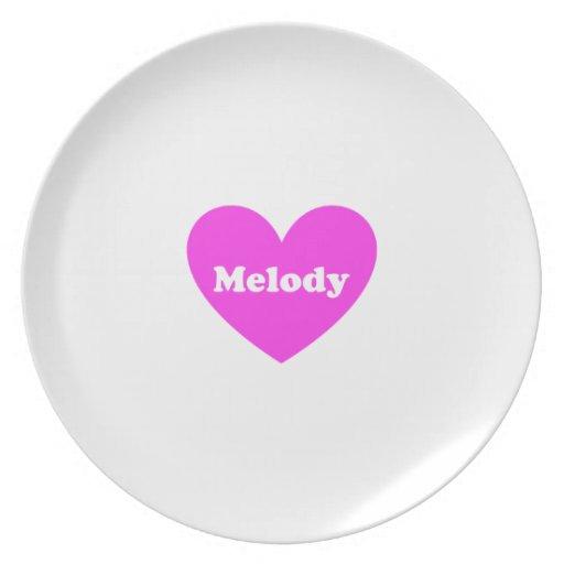 Melodía Plato De Cena