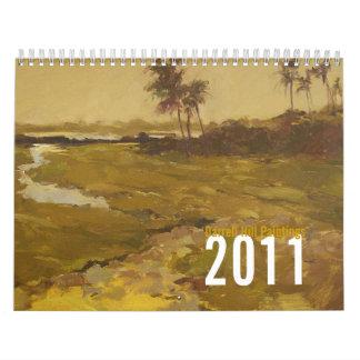 Melodía tropical, calendario de la pintura de la