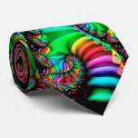 Melodic Rainbow Fractal Spiral Tie