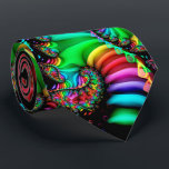 "Melodic Rainbow Fractal Spiral Tie<br><div class=""desc"">This colorful tie features my fractal art spiral ""Melodic Rainbow"" with red,  orange,  yellow,  green,  blue,  purple,  pink,  and black colors. Makes a chic addition to your wardrobe!</div>"