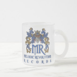 MELODIC REVOLUTION RECORDS 10 OZ FROSTED GLASS COFFEE MUG