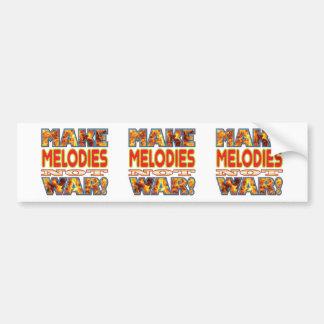 Melodies Make X Bumper Sticker