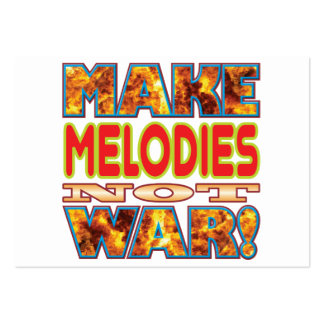 Melodies Make X Large Business Cards (Pack Of 100)