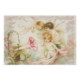 Melody -  Angels, Flowers, Music Poster