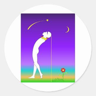 melody classic round sticker