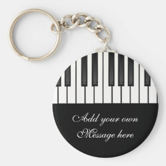 Melody Collection Basic Round Button Keychain