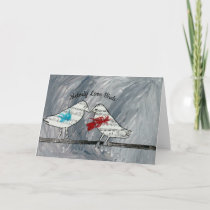 Melody Love Birds - Blank Greeting card