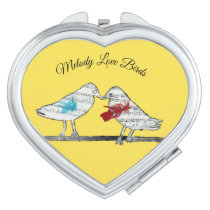 Melody Love Birds Compact Mirror