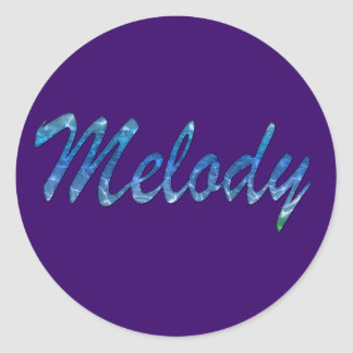 Melody Name Branded Gift Item Classic Round Sticker