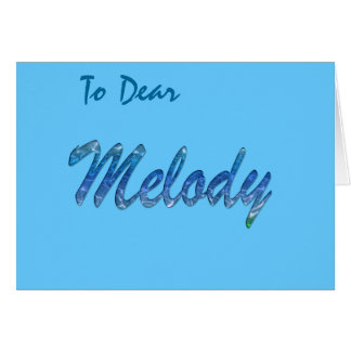 Melody Name Branded Greeting Card
