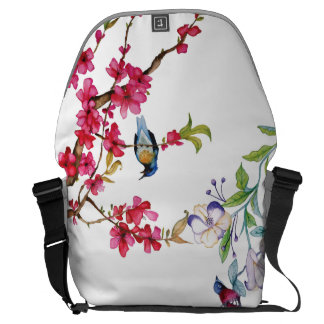 Melody of Spring 1 (Large) - Chinese Watercolor Messenger Bag