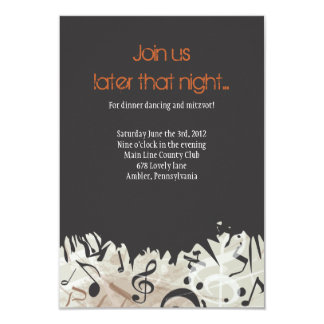 MELODY of the TORAH Bar Bat Mitzvah Party Card Custom Invites