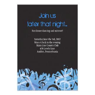 MELODY of the TORAH Bar Bat Mitzvah Party Card
