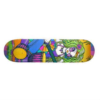 """Melody"" Rainbow Guitar Fairy Skate Board Deck"
