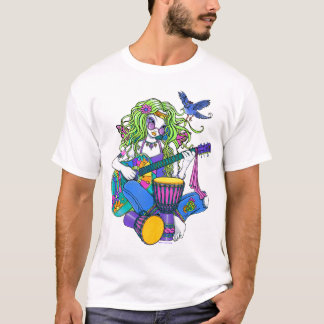 """Melody"" Rainbow Guitar Hippie Fairy T-Shirt"