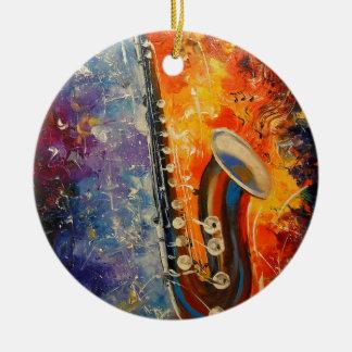 Melody saxophone ceramic ornament
