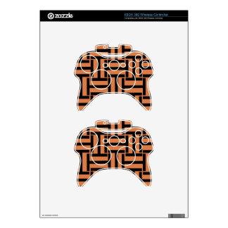 Melon and Black T Weave Xbox 360 Controller Skins
