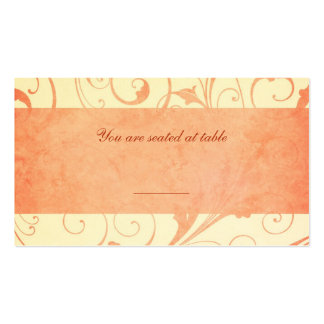 Melon and Cream Wedding Invitation Place Cards Double-Sided Standard Business Cards (Pack Of 100)