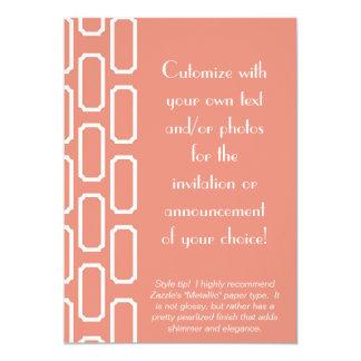 Melon and White Plaque Design Invitation